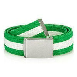 Men's green and white webbing belt HX0231