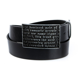 Men's black leather belt HX0019