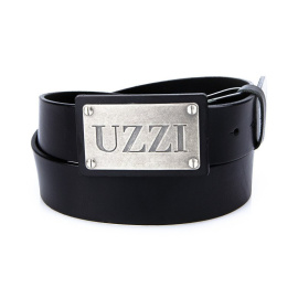Men's black leather belt HX0027