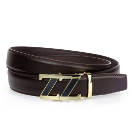 Men's brown belt HX0080