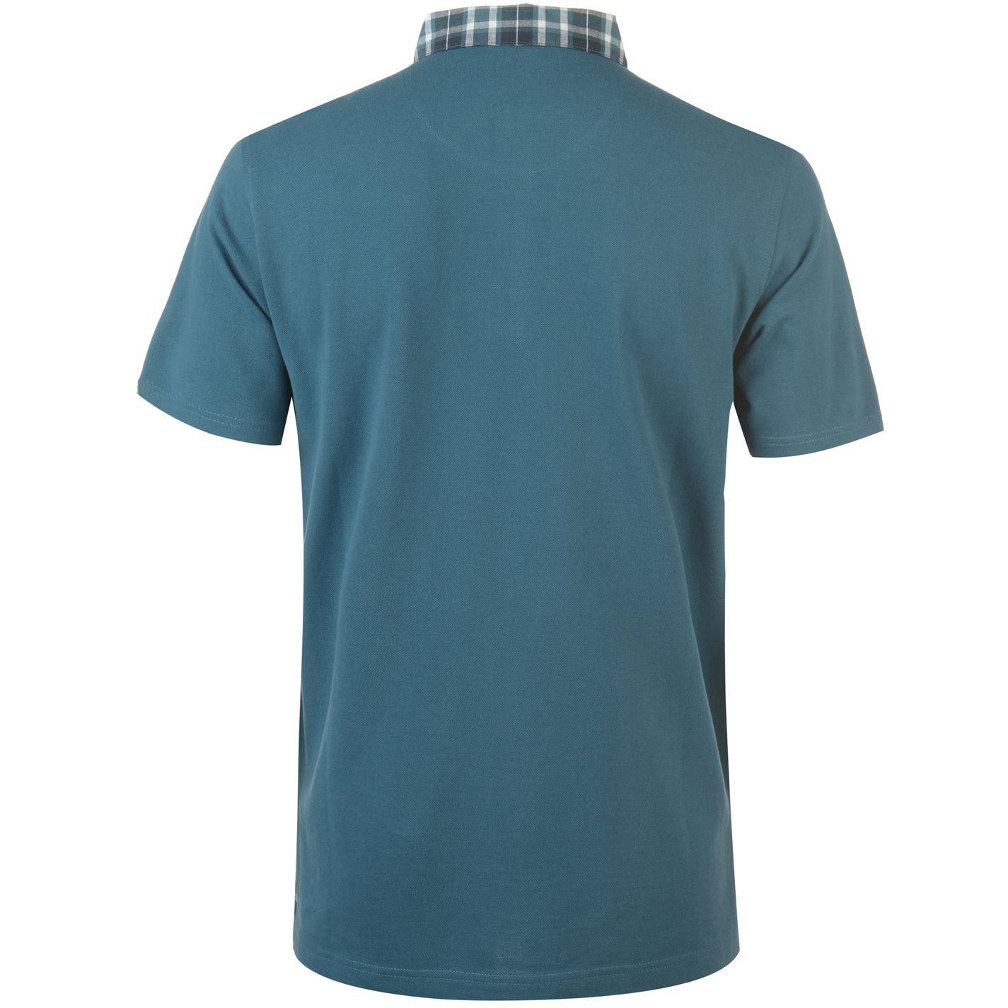 Mens Pierre Cardin Short Sleeve Check Collar Polo