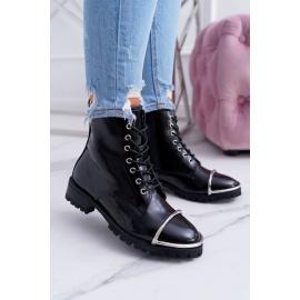 Boots Women Lu Boo Black Workers with Steel Jacks