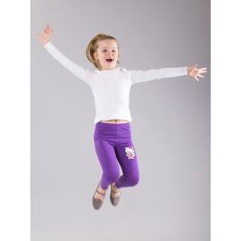 Dziewczęce legginsy z motywem HELLO KITTY fioletowe