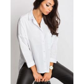 Biała koszula RUE PARIS z napisem